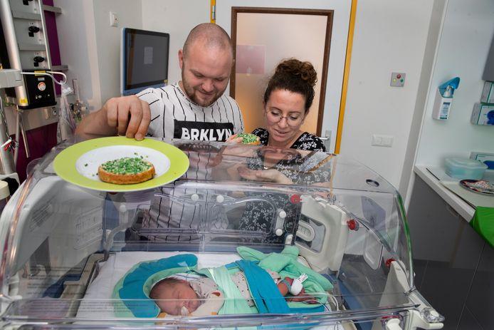 Lin en Ben met dochter Pip