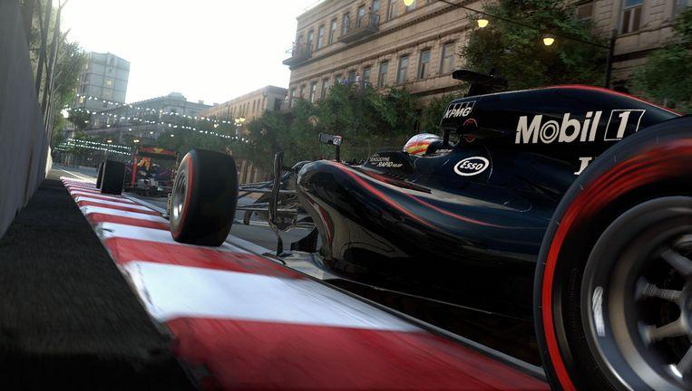 Echt of namaak: het is soms niet te zien in F1 2016 - zolang er geen mensen in beeld zijn. Beeld Codemasters