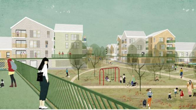 Cvba Wonen wil Debbautshoek tegen 2030 omvormen tot 'groene wijk van de toekomst'