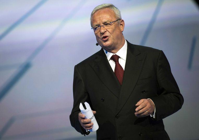 Martin Winterkorn, bezig aan zijn laatste dagen als Volkswagen-CEO? Beeld ANP