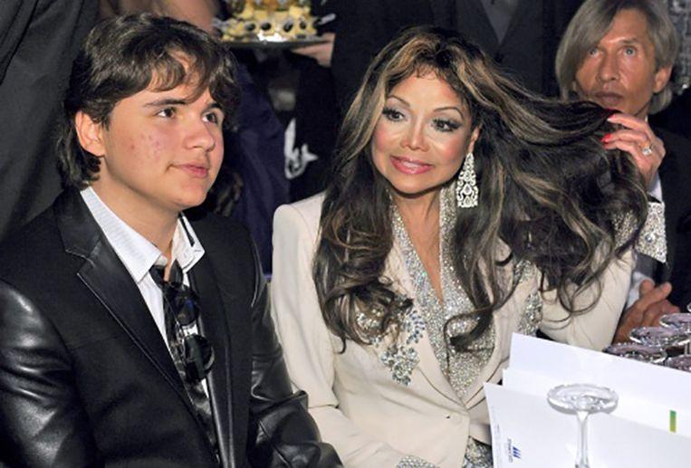 Prince met LaToya: de zus van Michael Jackson. Beeld ANP