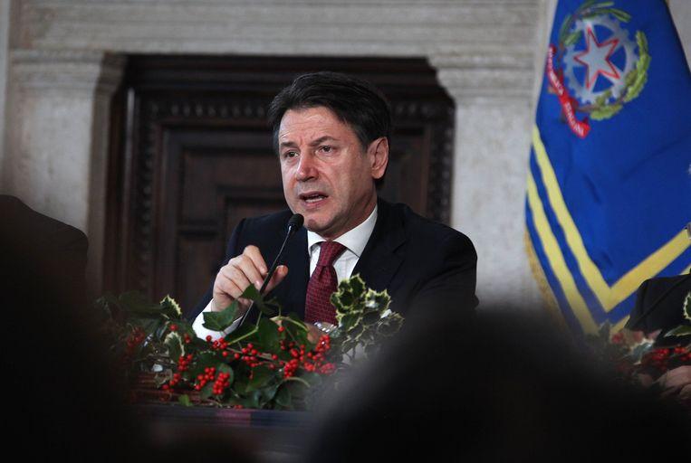 Italiaans eerste minister Giuseppe Conte. Beeld Photo News