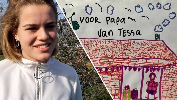 Tessa maakte een video over haar overleden vader