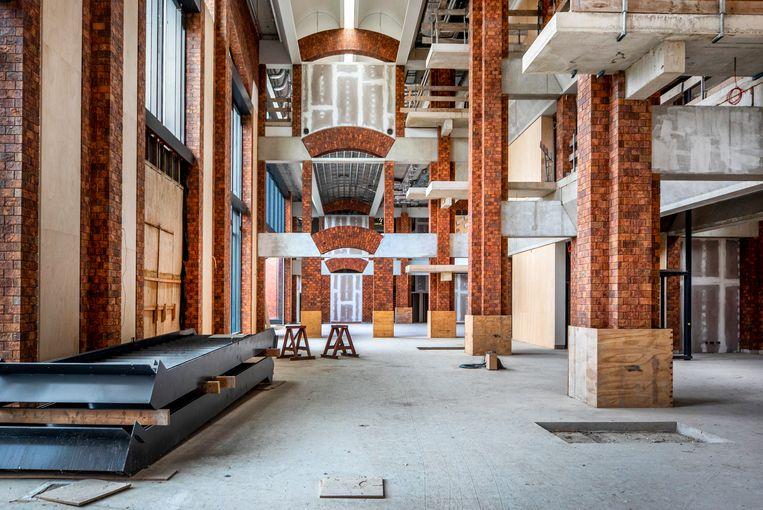 Interieur van het onafgebouwde Scheringa Museum voor Realisme. Beeld Raymond Rutting / de Volkskrant