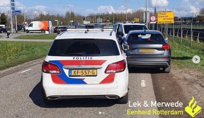 De politie reed de woninginbrekers klem in Schelluinen.