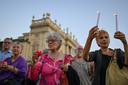 Protest tegen de de coronapas in Turijn.