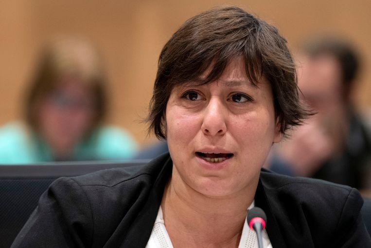 Groen-voorzitster Meyrem Almaci . Beeld Photo News