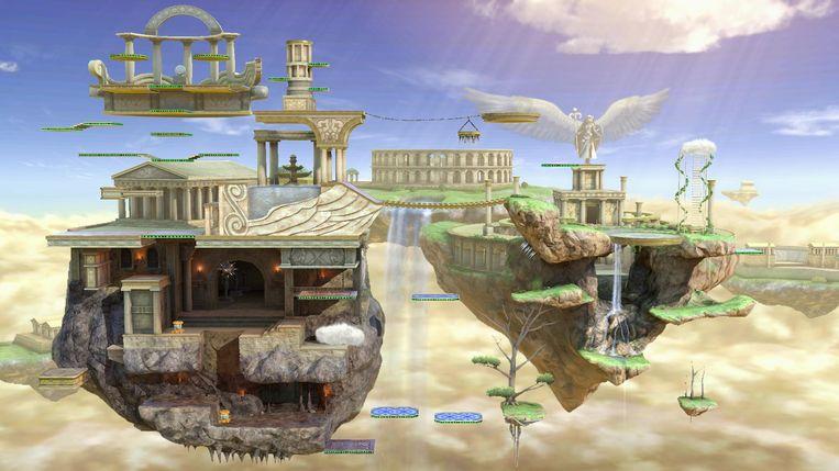 De ware sterren in 'Super Smash Bros Ultimate' zijn de decors. Beeld Nintendo