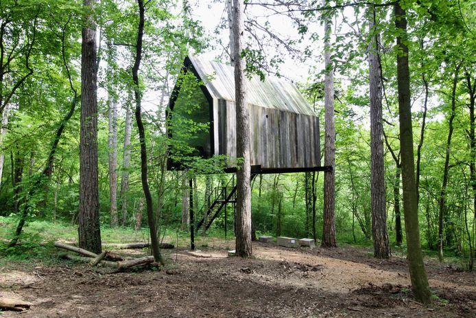 Slô, des cabanes suspendues dans les bois.