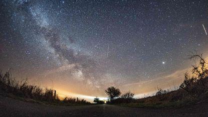 Onder ideale omstandigheden zie je 13 gekleurde 'vallende sterren' per uur dit weekend