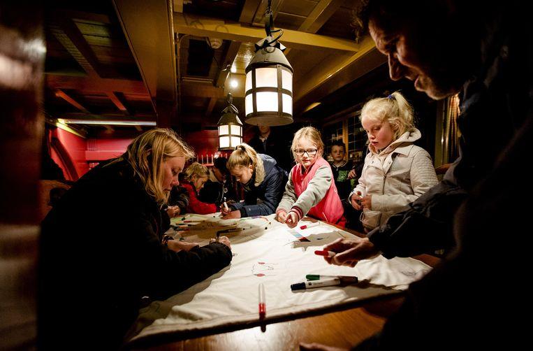 Kinderen mogen gratis naar het Scheepvaartmuseum. Beeld ANP