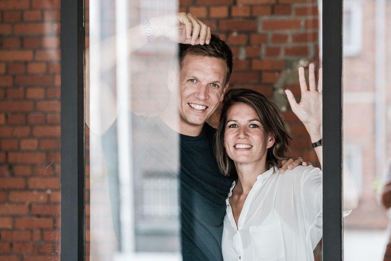 James Cooke en zijn zus Fleur.  Beeld Bob Van Mol