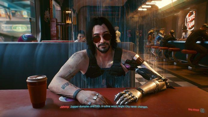 Keanu Reeves in Cyberpunk 2077.