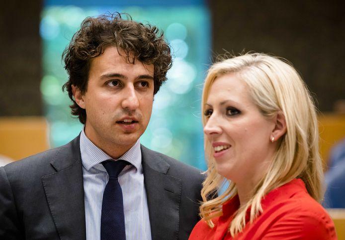 Jesse Klaver (Groenlinks) en Lilian Marijnissen (SP)