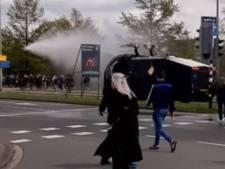 Twee gewonde paarden en een verbrijzelde helm: hoe het na Feyenoord-Utrecht uit de hand liep