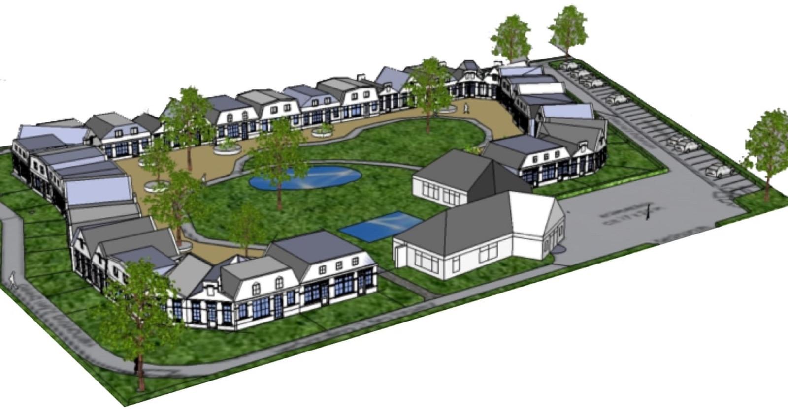 Het ontwerp voor het project Aan de Weuste van architect Martin Oostenrijk.