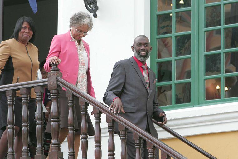 Lucille George-Wout, de gouverneur van Curaçao, neemt de bevoegdheid van het eilandbestuur over om de verkiezingen te organiseren. Beeld ANP