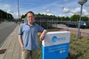 Klokkenluider Frits Veerman vorig jaar bij Urenco in Almelo.