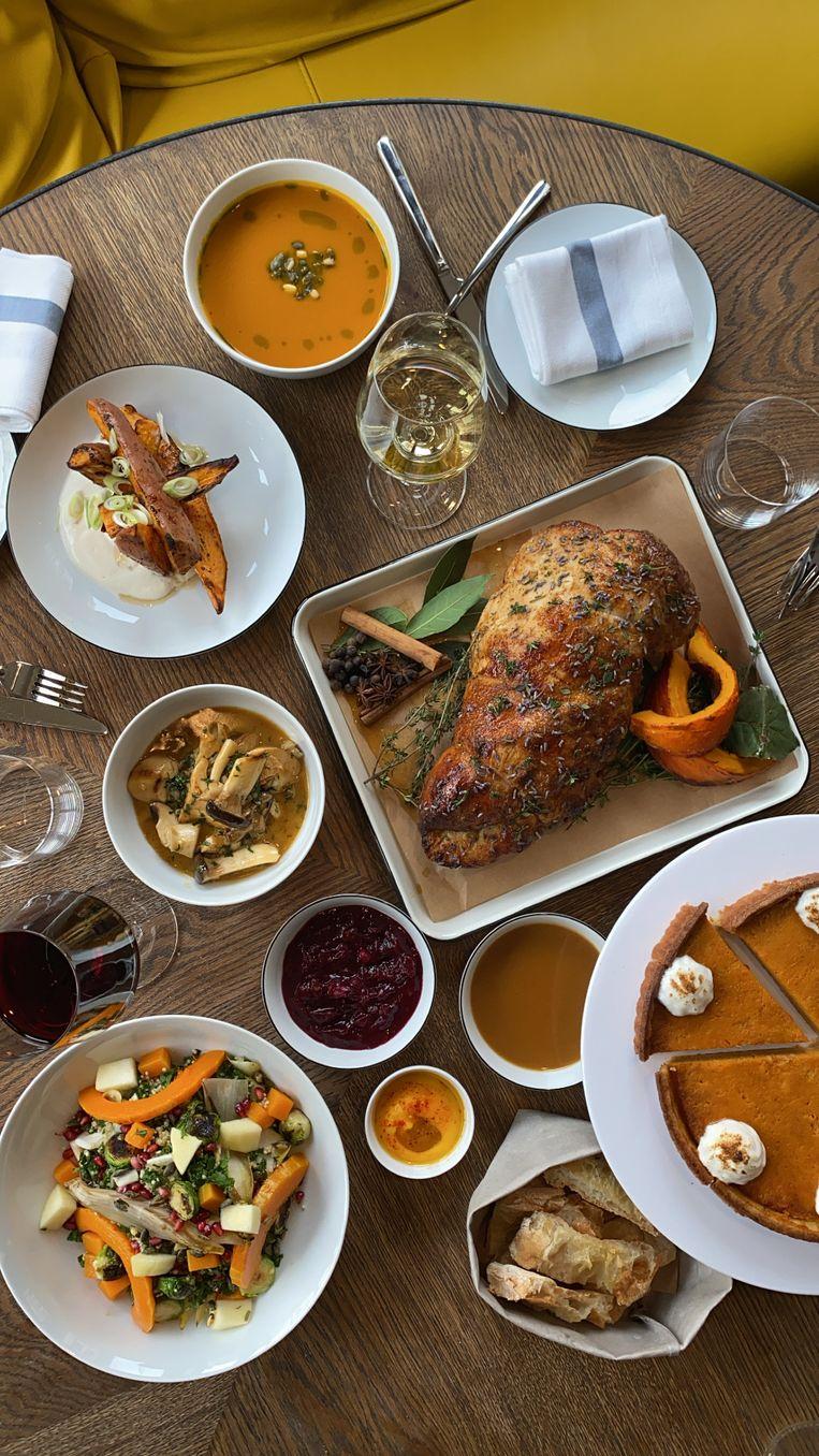 Bij het Kimpton De Witt-hotel en het bijbehorende restaurant Celia vier je Thanksgiving in de vorm van een staycation.  Beeld