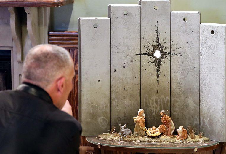 De alternatieve kerststal van Banksy. Beeld EPA