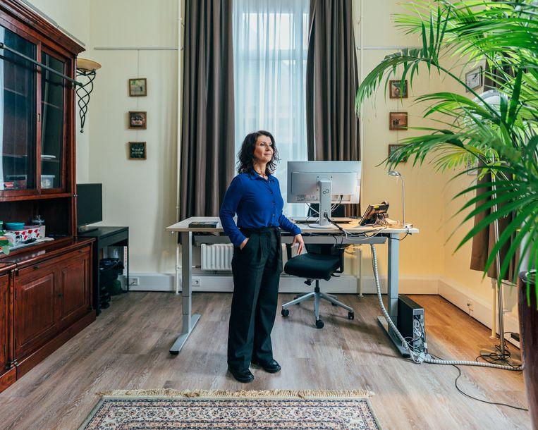 Esther Ouwehand: 'Deze verkiezingen zijn voor iedereen in Nederland de kans van hun leven.' Beeld Rebecca Fertinel
