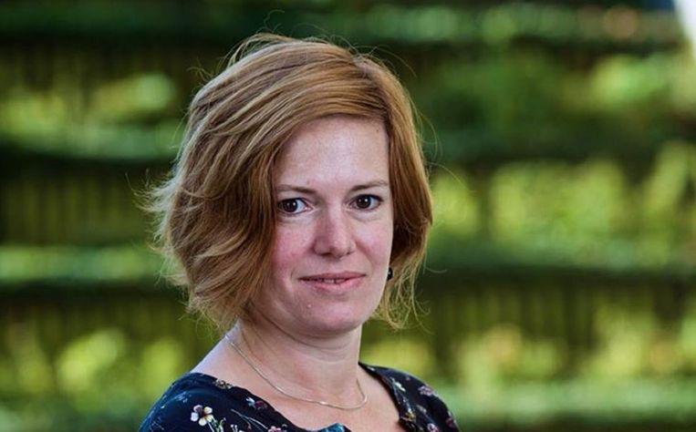 Katrien Verwimp, voorzitter ACV Transcom. Beeld kos