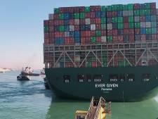 Problemen na losmaken containerschip Suezkanaal nog lang niet voorbij: 'Logistieke puzzel'
