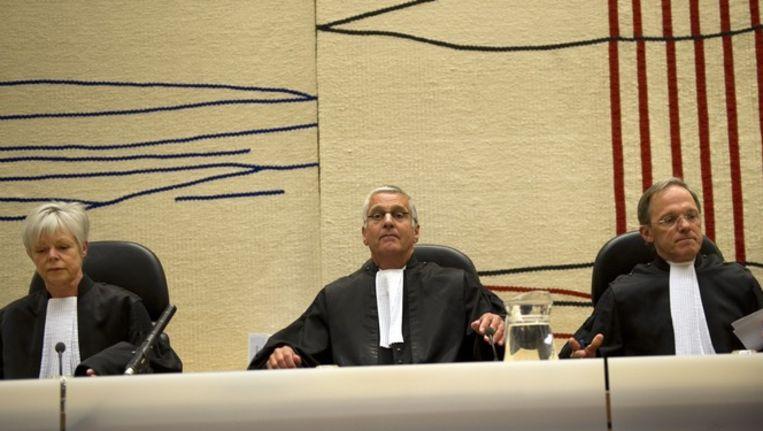 De wrakingskamer komt vrijdag in de rechtbank in Amsterdam bijeen in het proces tegen Geert Wilders. Beeld anp