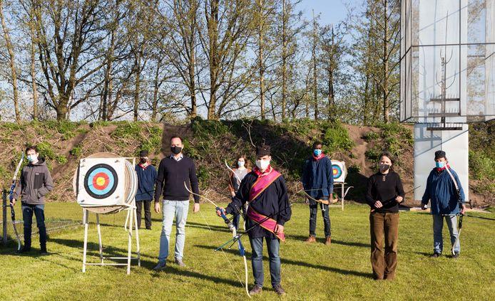 De Sint-Huybrechtsgilde traint voortaan aan het grasveld tussen het skatepark en sporthal de Zoest