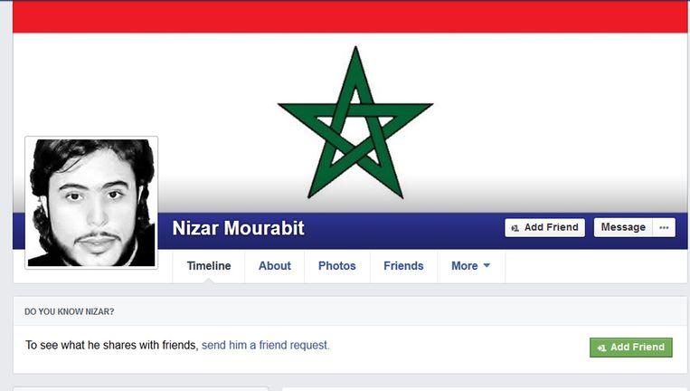 Het 'valse' Facebookprofiel van Nizar Mourabit. Beeld Nelle Boer