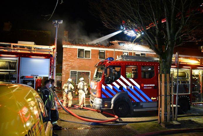 Bij de brand kwam de bewoner om et leven.