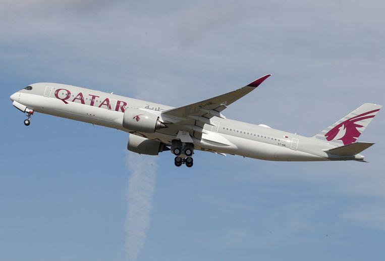 Archieffoto van een toestel van Qatar Airways.  Beeld REUTERS
