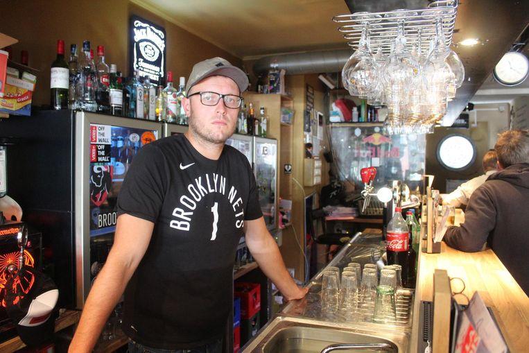 Byron Verheyden van nachtcafé Riderz, waar de inbreker de kassa, een laptop en het steungeld stal.