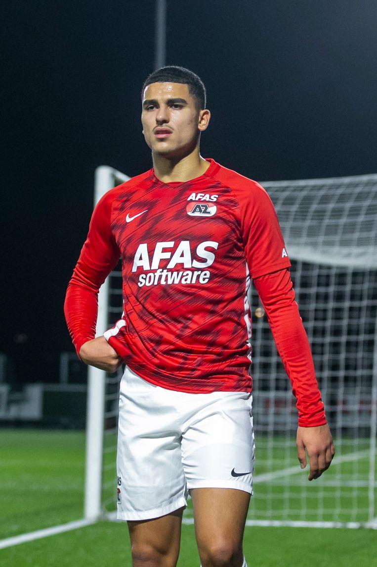 Jong AZ-speler Zakaria Aboukhlal   during the match Jong AZ - Go Ahead Eagles Beeld Pro Shots / Erik Pasman