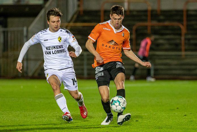 Jannes Vansteenkiste in één van de matchen tegen Lierse Kempenzonen: hij etaleerde het voorbije seizoen een hele grote regelmaat.