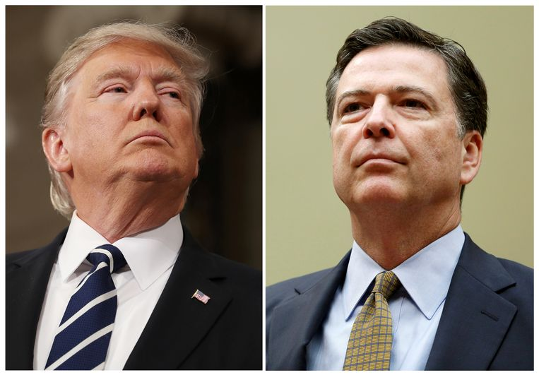 Donald Trump (links) en James Comey. Beeld REUTERS