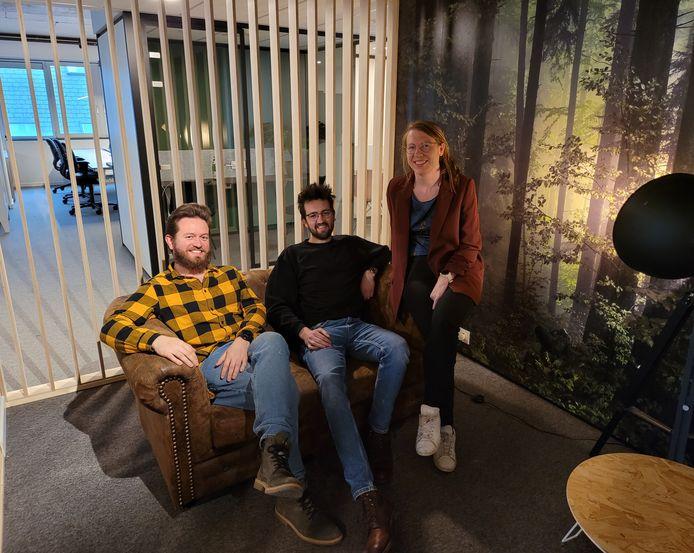 Het BloomUp-team: Clovis Six, Arno Soontjens en Ellen Batens.
