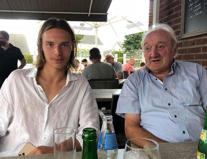 Maarten en Roland, twee handen op één buik.