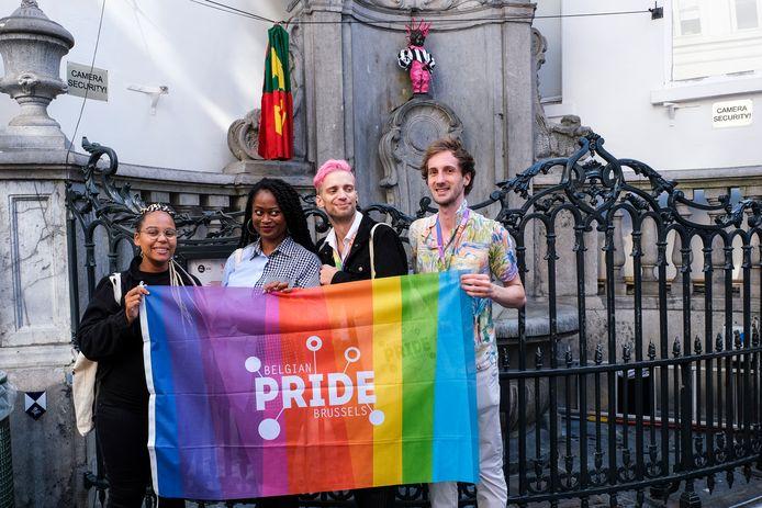 L'inauguration du Manneken Pis dans un nouveau costume LGBTQI+.