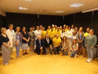 Organisatoren, deelnemers, Willy Planckaert en Katja Retsin klaar voor Deinze beweegt tegen kanker!