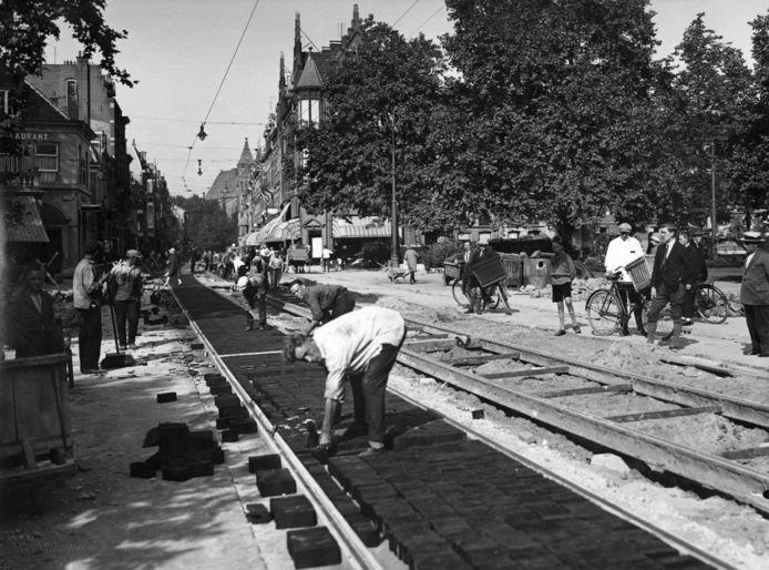 De houten trambaan.