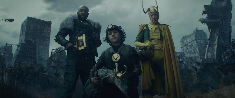 Drie 'alternatieve' Loki's die de voormalige god van het kattenkwaad tegen het lijf loopt tijdens zijn queeste. Beeld Marvel Studios