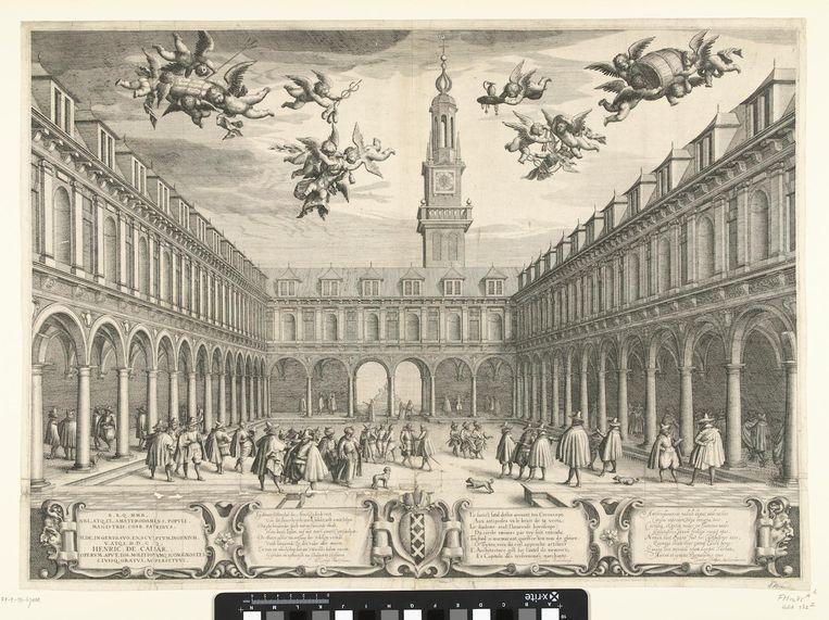 De beurs, kloppend commercieel hart van de Gouden Eeuw Beeld Rijksmuseum