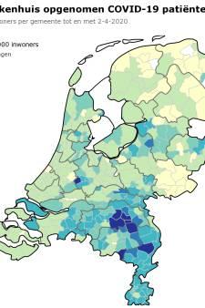 Brabant telt 3790 coronapatiënten: de ziekenhuisopnamen in kaart