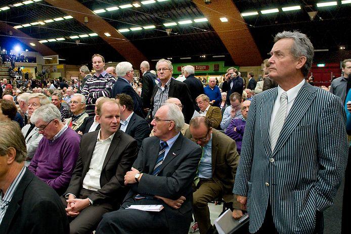 Jan van der Sloot in zijn laatste dagen als Rijnhal-directeur, tijdens een congres van het CDA, in december 2010.