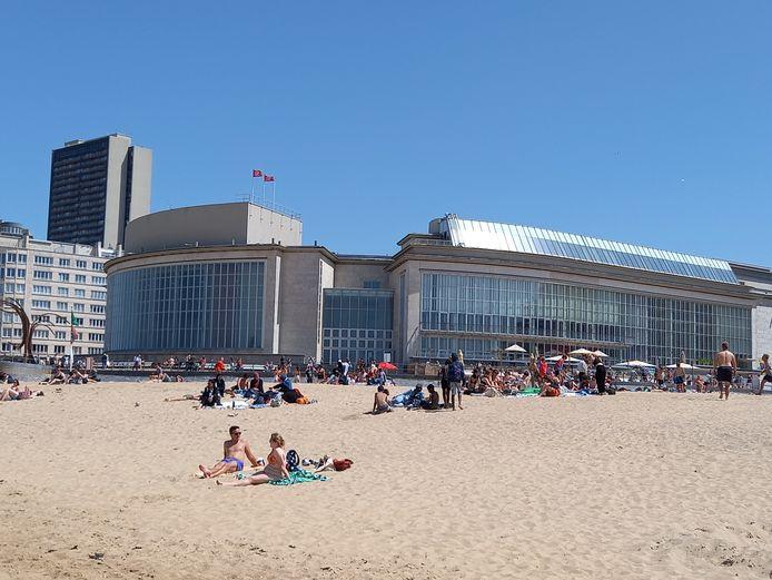 Zo zag het strand in Oostende er zaterdag uit