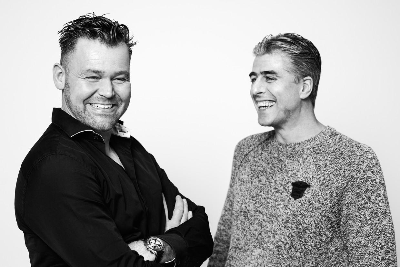 Johan Stroek en Jan 'Kurk' Tol. Beeld Jet van Gaal