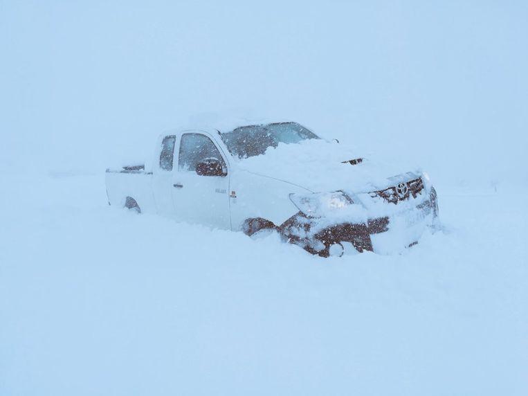 De sneeuw valt vandaag overvloedig in het zuiden van Frankrijk. Beeld Meteo Languedoc