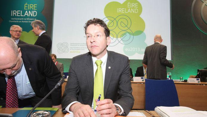 Minister Jeroen Dijsselbloem van Financiën in Dublin.
