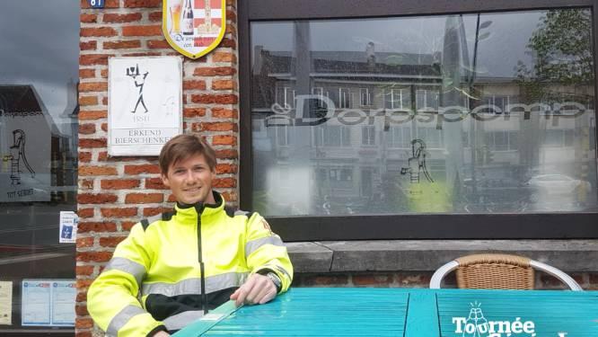 """Frederik Laeremans kijkt uit naar zijn eerste mazout op het terras van De Dorpspomp: """"Het zelf inschenken uit blikjes is toch niet helemaal hetzelfde"""""""